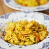 Recept: wok met scampi in kerrieroomsaus