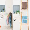 Kleine badkamer tip: ladder voor handdoeken!