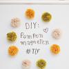 DIY: pompon magneten