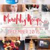 Monthly Recap - december 2015