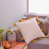 Woonkamer make-over #1: DIY tassel kussen