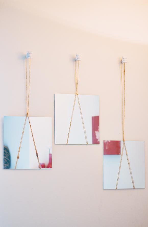 DIY hangende spiegels
