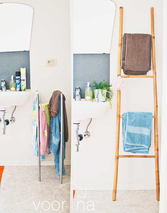 Kleine Badkamer Tip Ladder Voor Handdoeken The Life