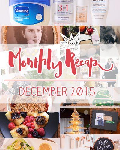Monthly Recap – december 2015