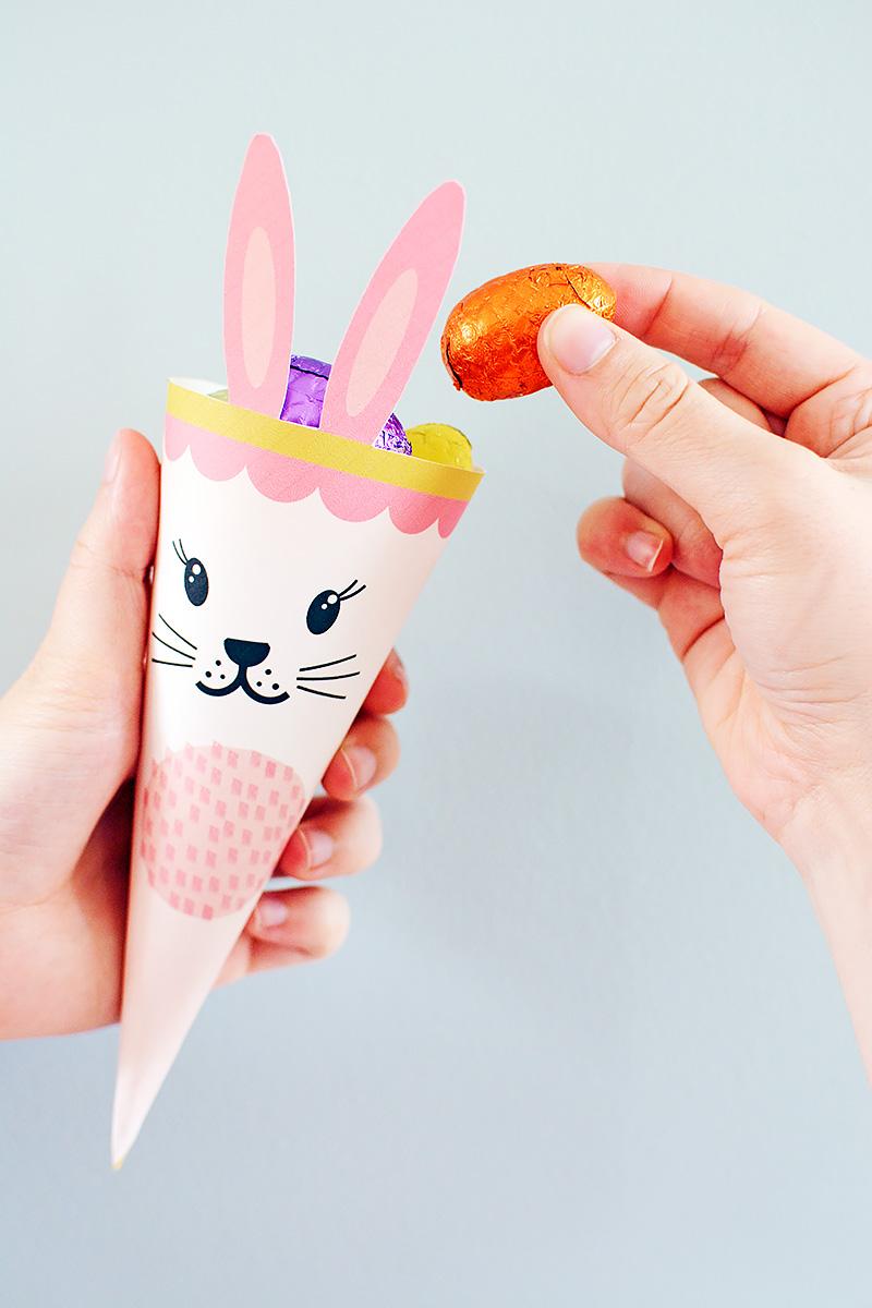 Freebie: een konijnenhoorntje voor Pasen!