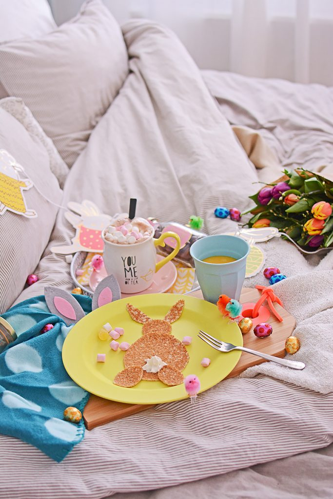 Een paasontbijt op bed