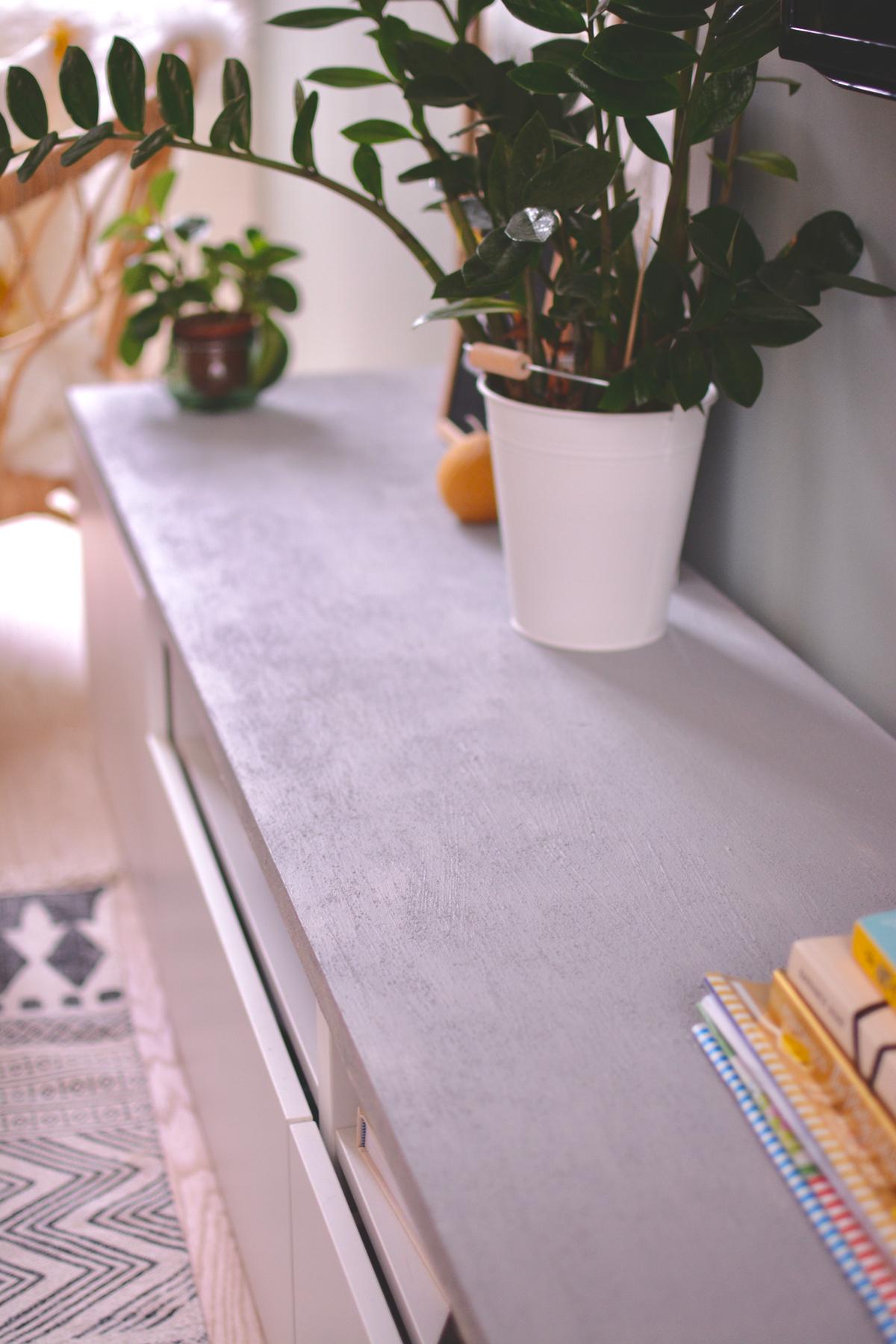 DIY: houten plank met betonlook